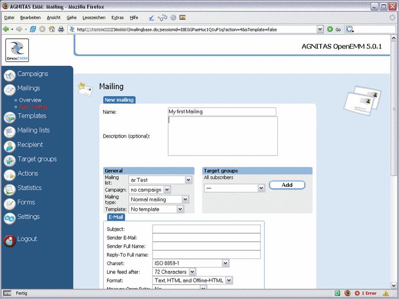 Newsletter System OpenEMM