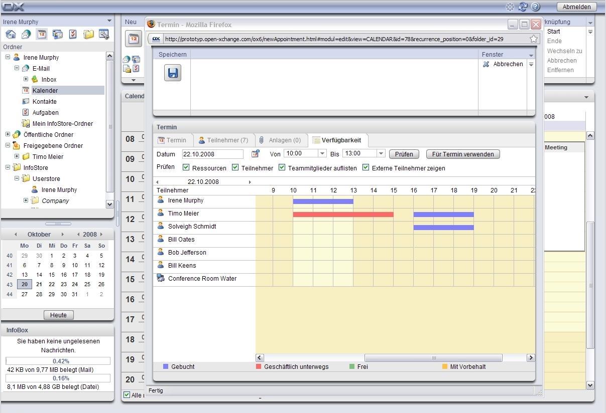 Groupware Open-Xchange Server Edition