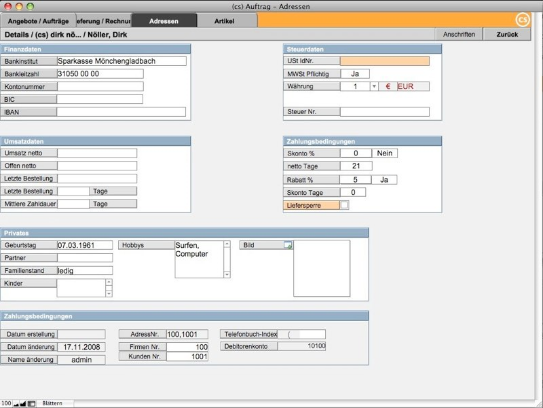 Auftragsverwaltung (cs) AuftragPro - Fakturierung und Rechnungsprogramm