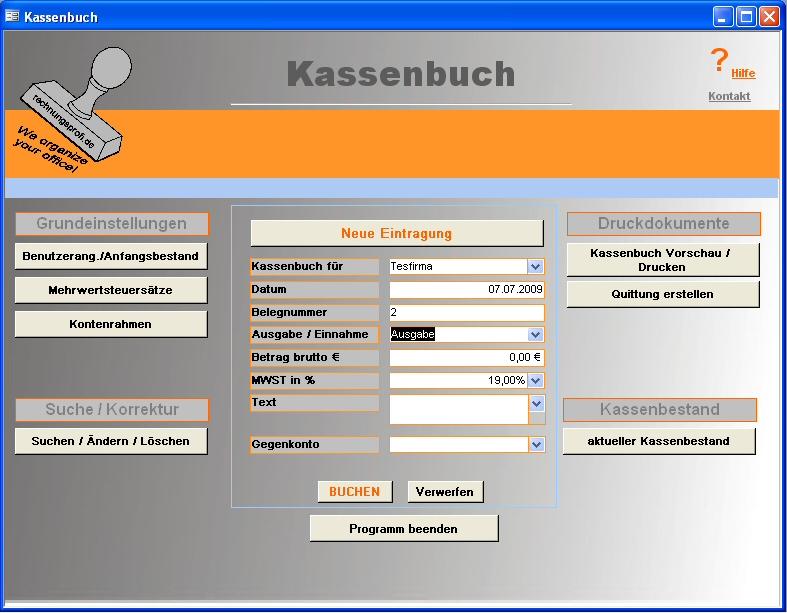 kassenbuch euro software download. Black Bedroom Furniture Sets. Home Design Ideas