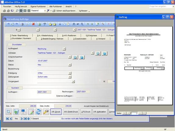Freeware Warenwirtschaftssystem Allinone-Office