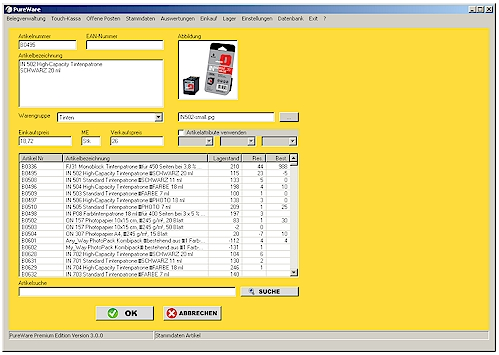 Kostenloses Warenwirtschaftssystem Pureware