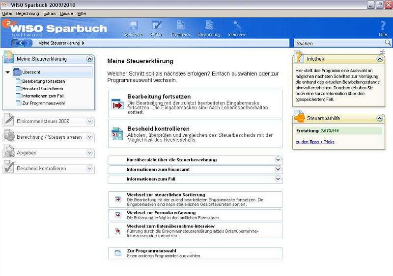 Elektronische Steuererklärung WISO Sparbuch 2010