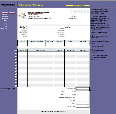 Download Englische Rechnungsvorlageinvoice Template Für Excel Sof