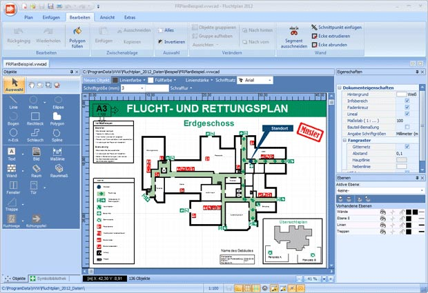 Fluchtplan 2012 - Software für Flucht- und Rettungswegpläne