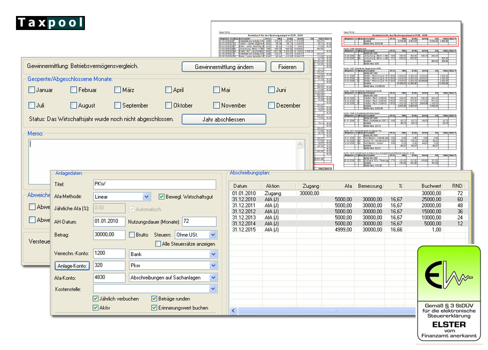 Freeware Buchhaltung Taxpool-Buchhalter als Mini-Version kostenlos