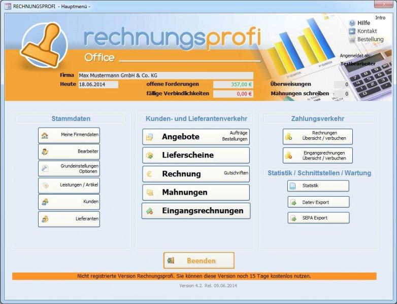 rechnungsprofi office - Fakturierungs- und Rechnungsprogramm