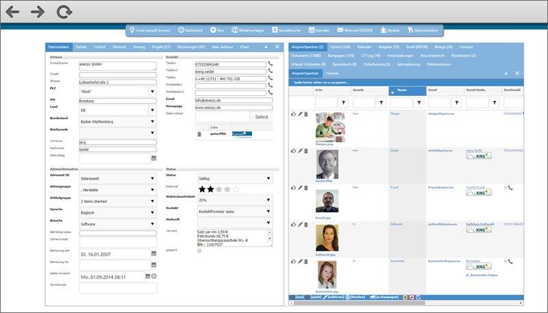 quisa® CRM groupware für KMU - Mehr als nur eine Vertriebssoftware